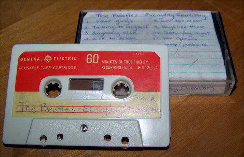 The Beatles' Everyday Chemistry album, on a cassette tape.
